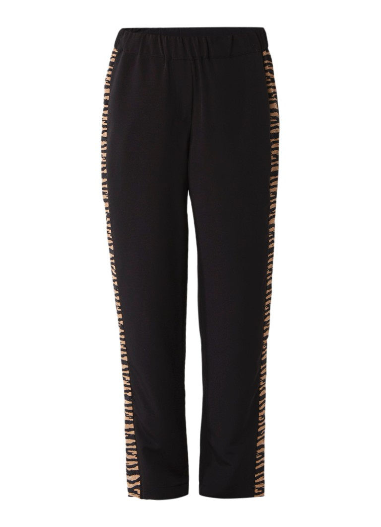 SuperTrash Plondy trackpants met luipaarddesin bies
