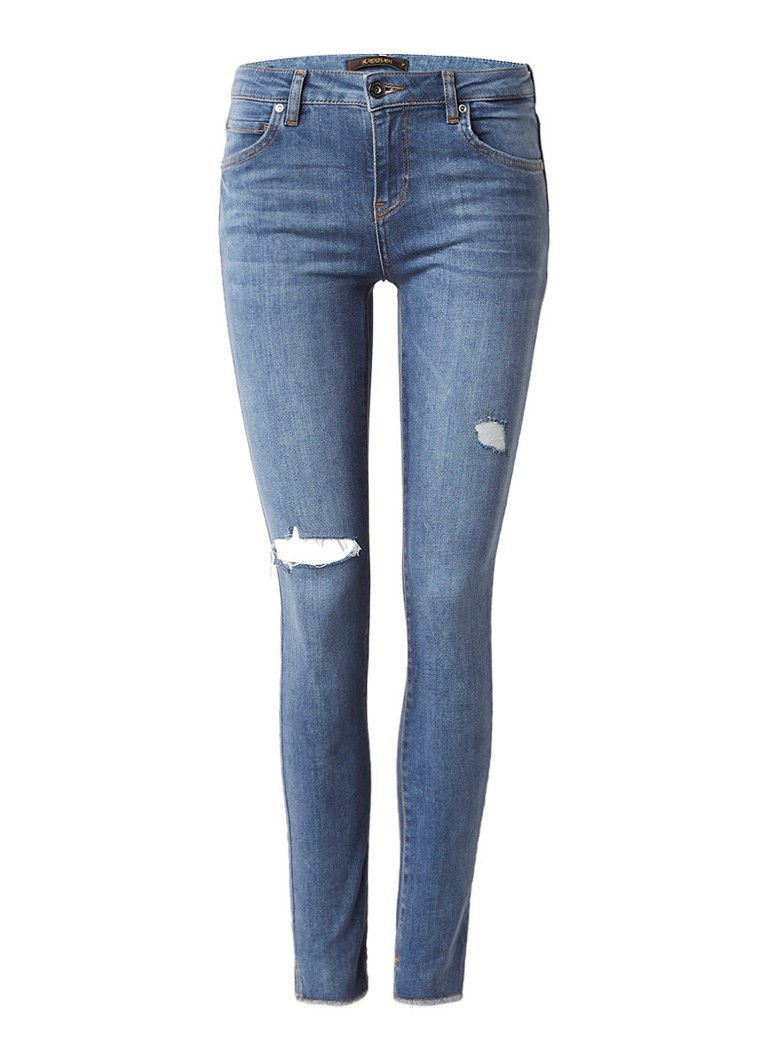 SuperTrash Paradise slim fit jeans met destroyed detail