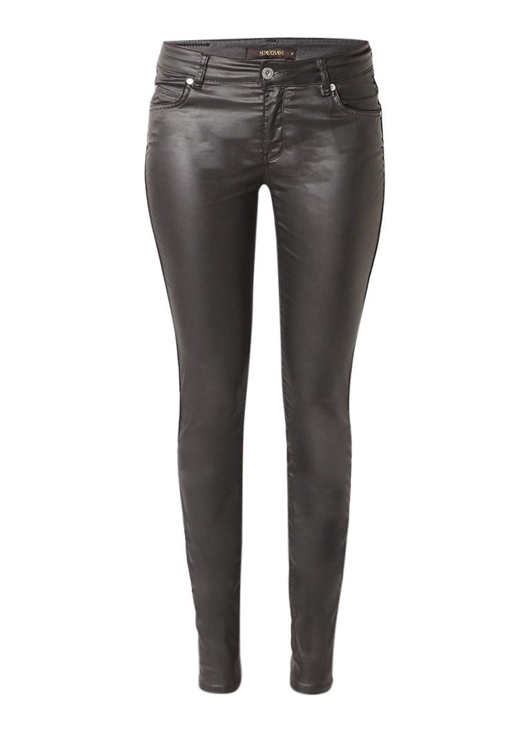 SuperTrash Peppy skinny fit jeans met coating