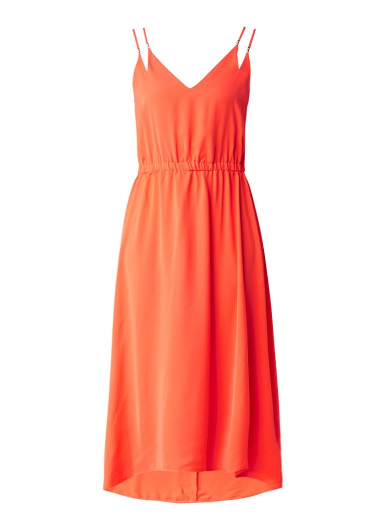Supertrash Dangari maxi jurk met elastische taille donkeroranje