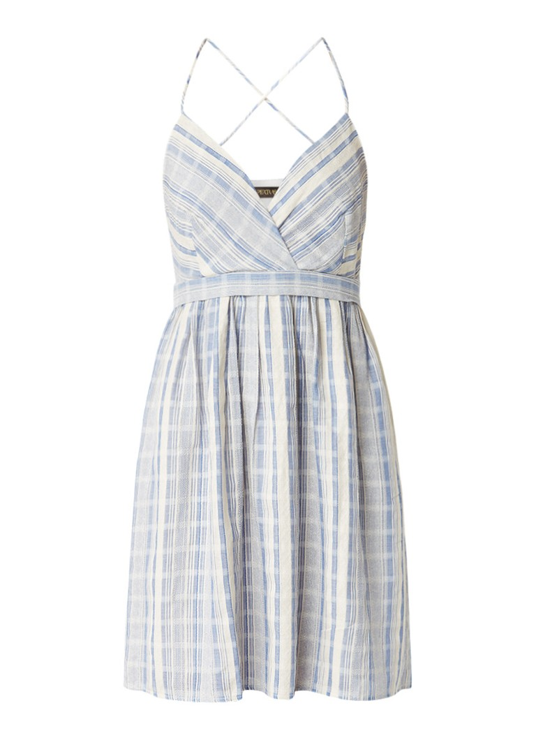 Supertrash Dance A-lijn jurk met gekruiste bandjes blauw