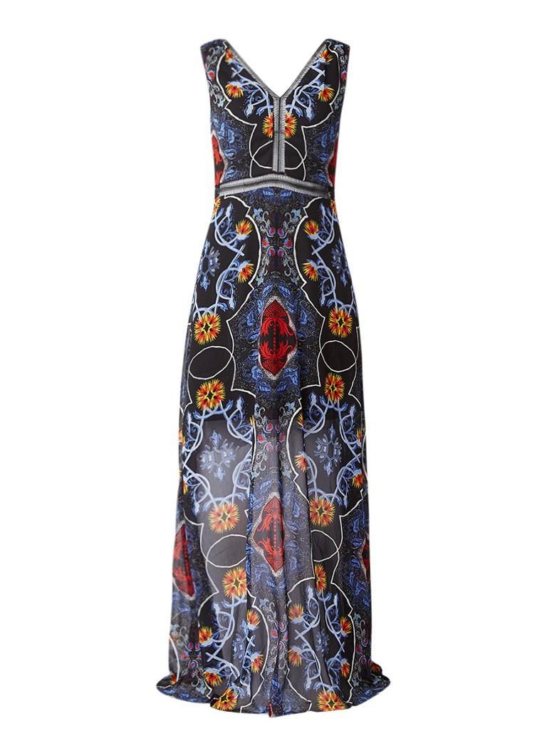 Supertrash Dyna maxi-jurk met opengewerkte bies zwart