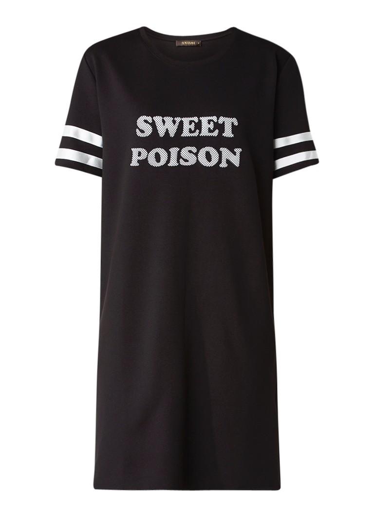 SuperTrash Debby Sweet t-shirt jurk met opdruk