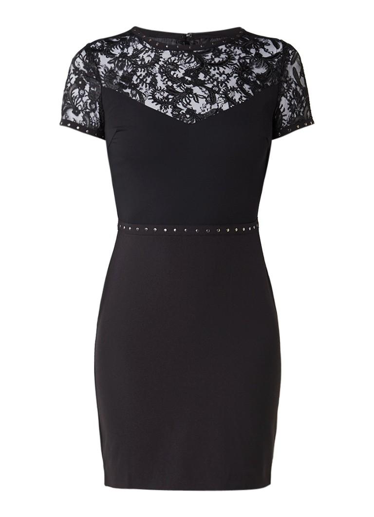 Supertrash Disa jurk met kant en studs zwart