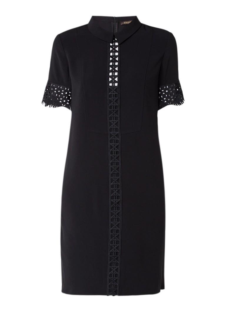 Supertrash Dace midi-jurk met opengewerkt detail zwart