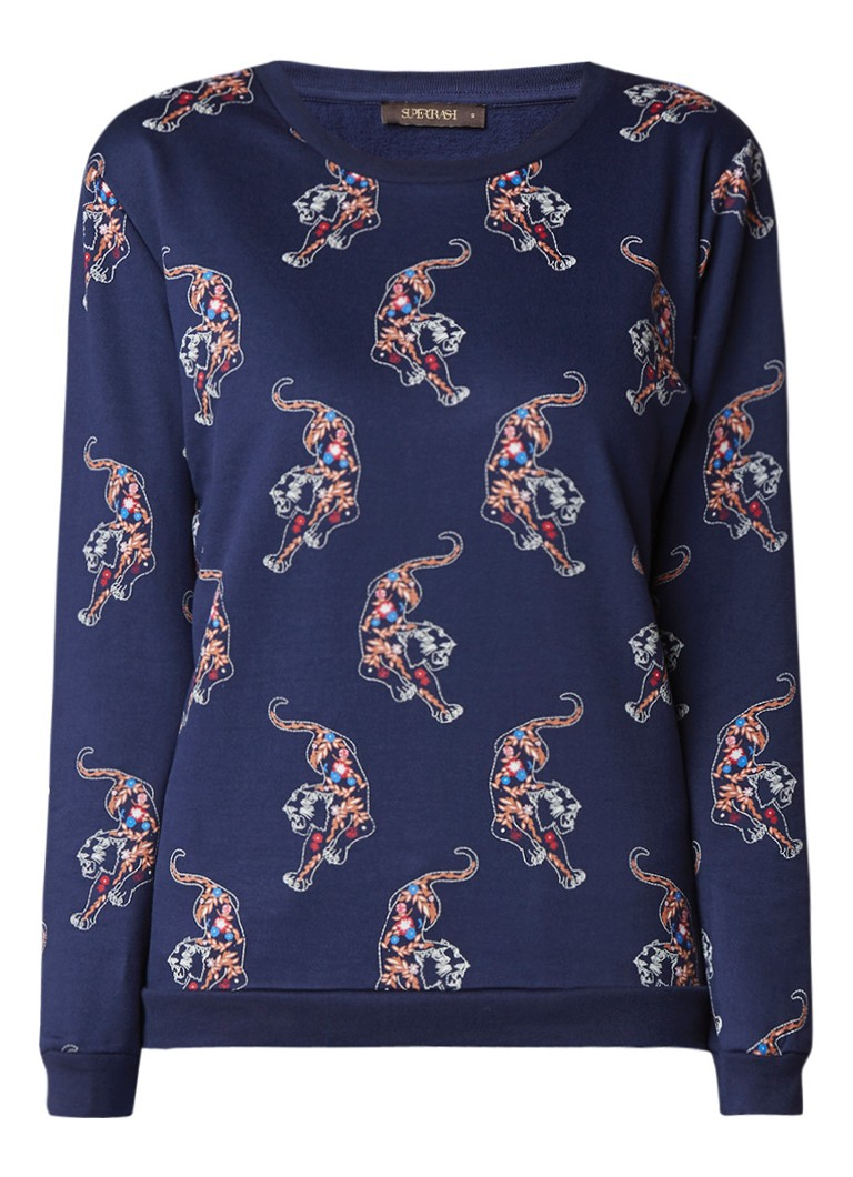 SuperTrash Topper sweater met tijgerdessin