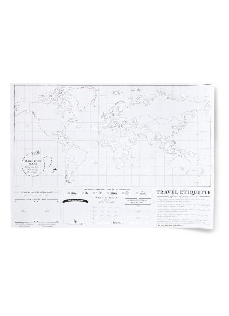 Luckies Persoonlijke wereldkaart Scratch Map