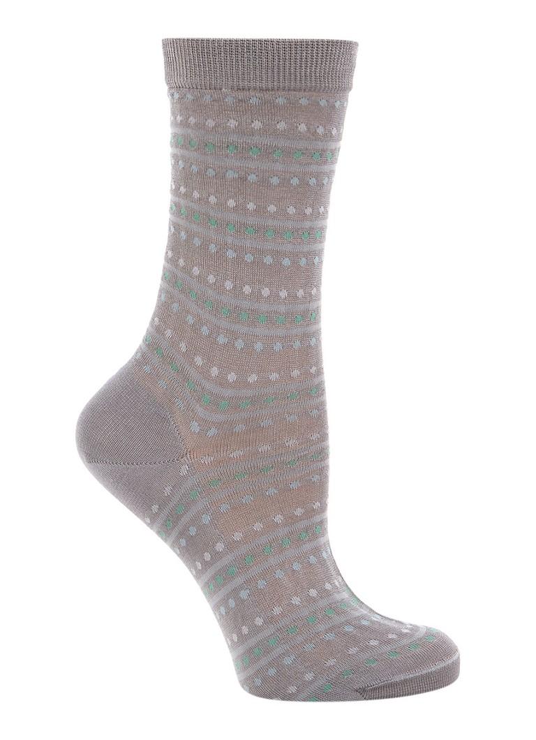Falke Sokken in zijdeblend met dessin