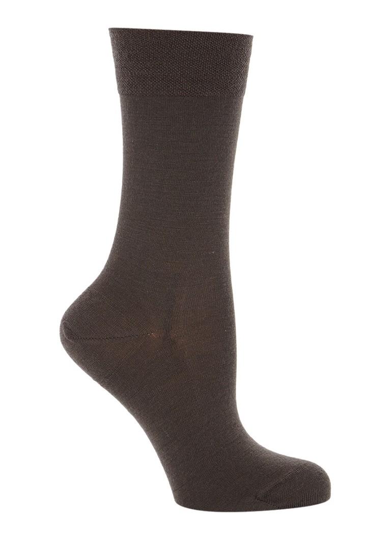 Falke Sensitive Berlin sokken donkerbruin