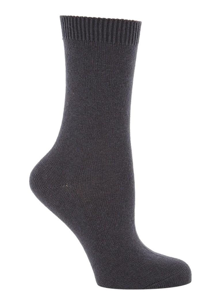 Falke Cosy Wool sokken antraciet