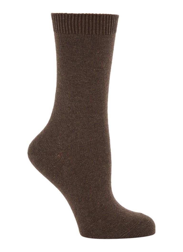 Falke Cosy Wool sokken donkerbruin