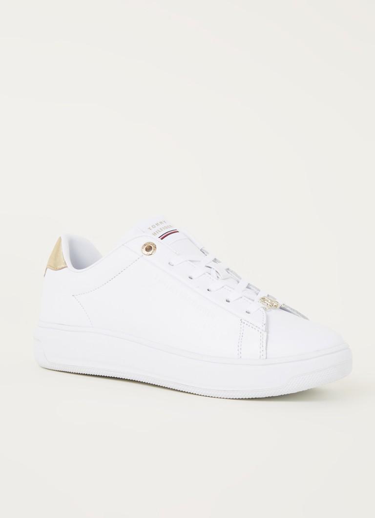 Tommy Hilfiger Metallic Leather Cupsole leren sneakers wit/goud online kopen