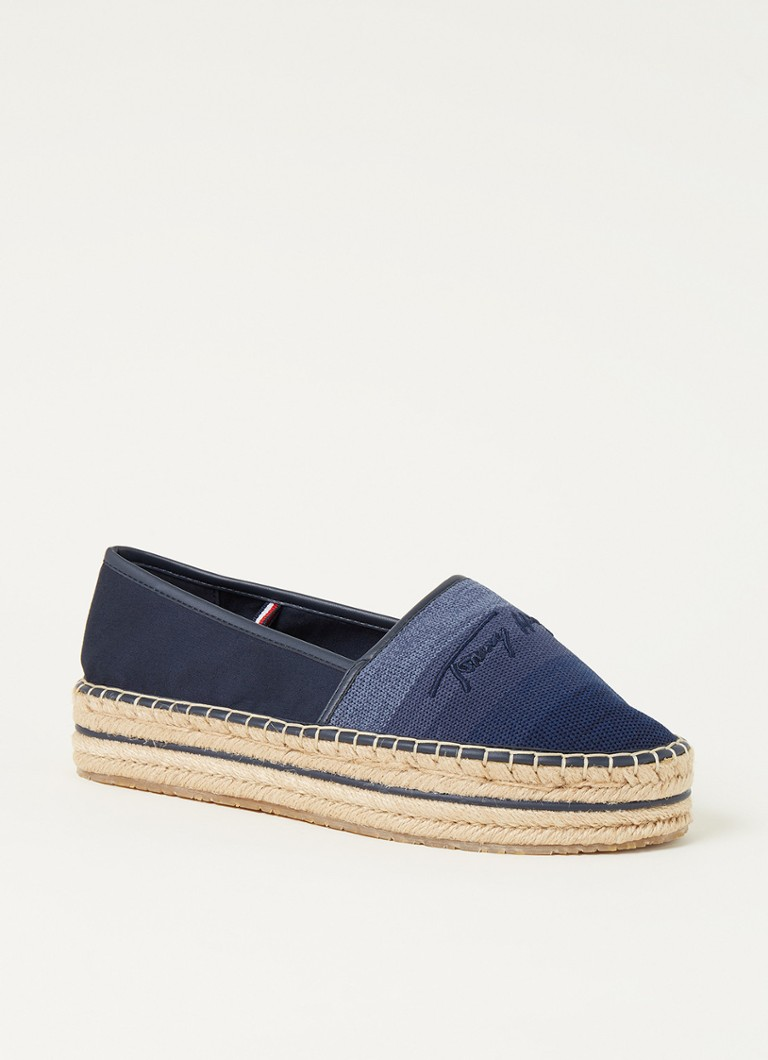 Tommy Hilfiger Sneakers Tommy Gradient Espad Blauw online kopen