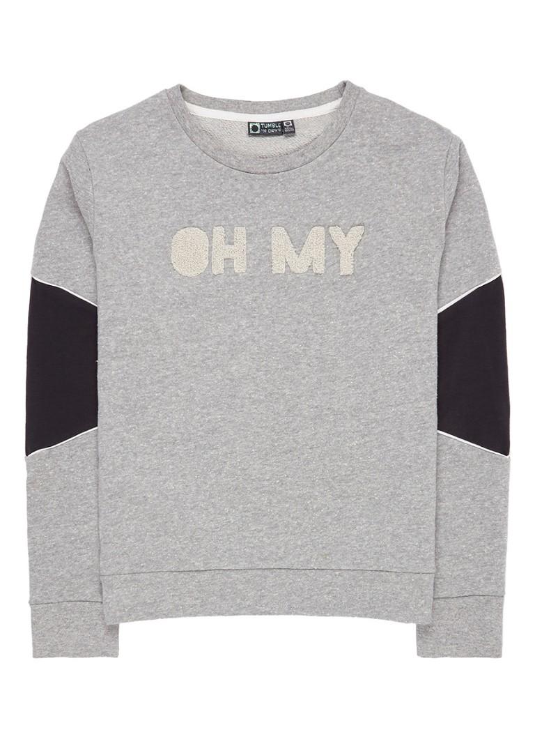 Tumble 'n Dry Erum sweater met tekstapplicatie