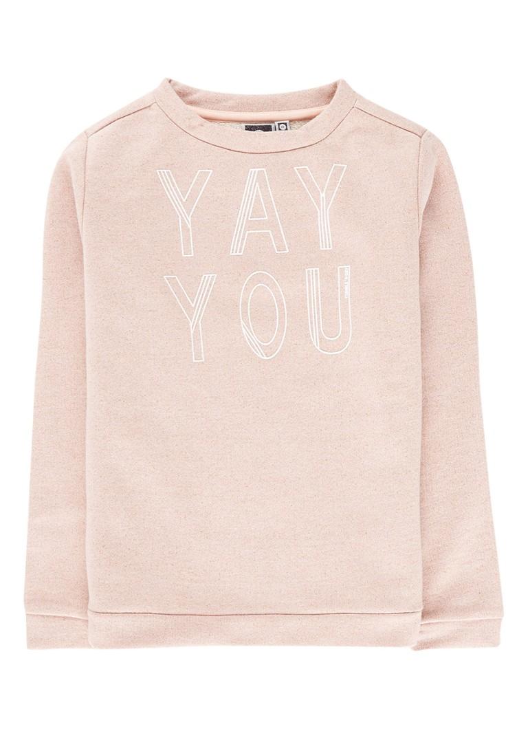 Tumble 'n Dry Danice sweater met tekstopdruk