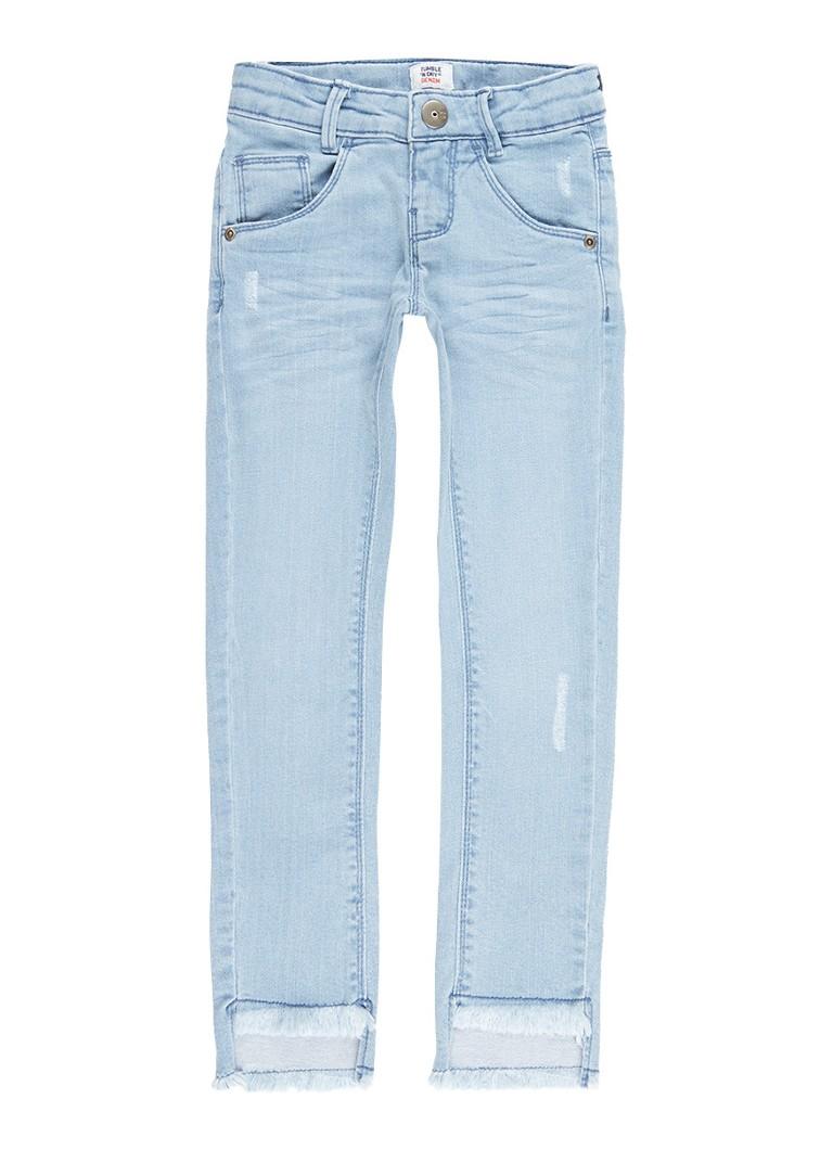 Tumble n Dry Pem skinny fit jeans met gerafelde zoom