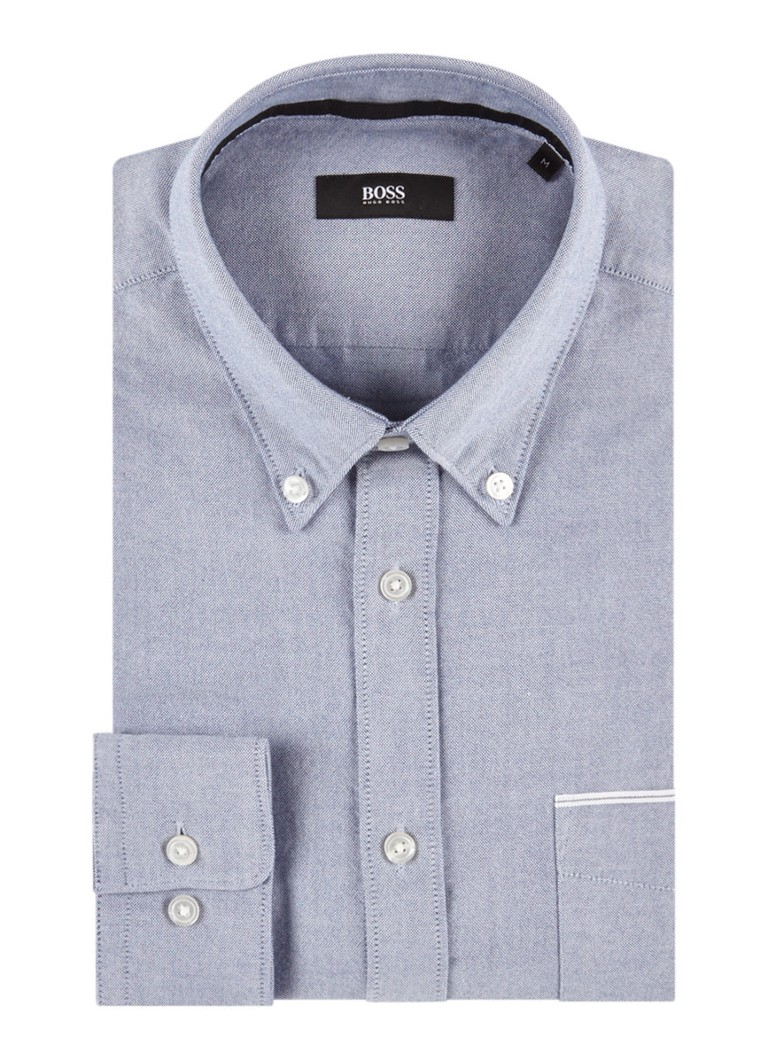 HUGO BOSS Rubens P slim fit overhemd met borstzak