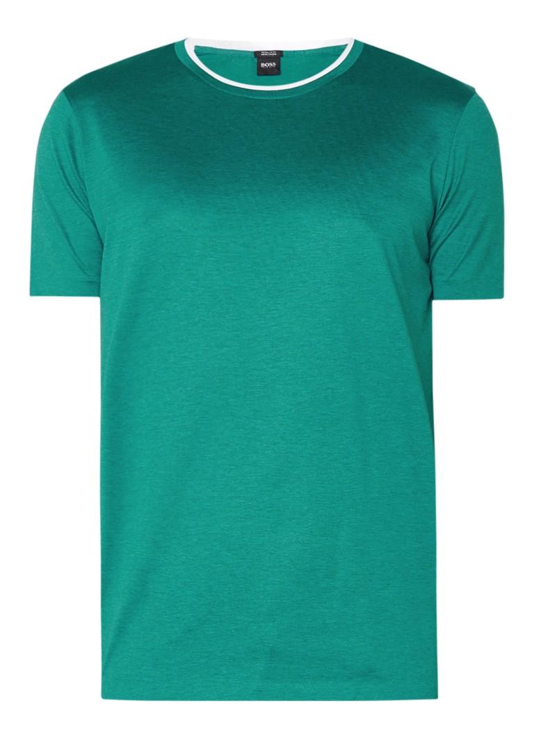 HUGO BOSS Taber T-shirt van katoen met dubbele halslijn