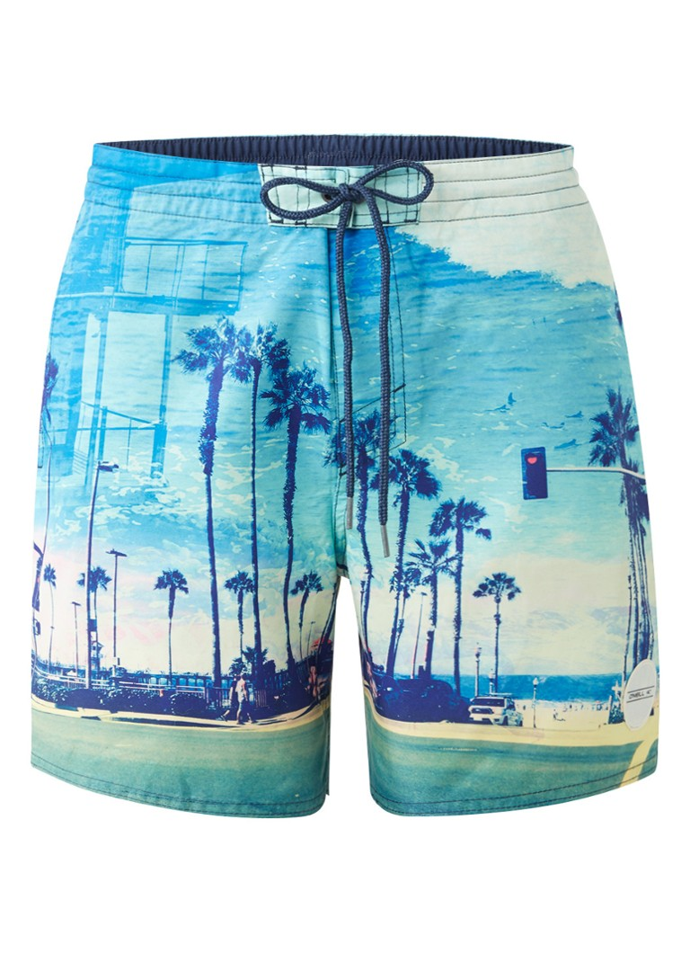 O'Neill Zion zwemshorts met palmboomprint