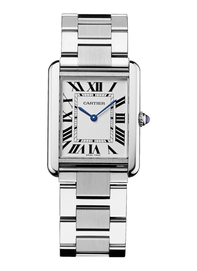 Cartier Tank Solo large horloge van staal W5200014
