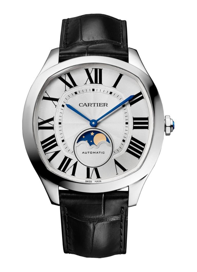 Cartier Drive de Cartier medium horloge van staal en krokodillenleer - calibre 1904-LU MC - WSNM0008
