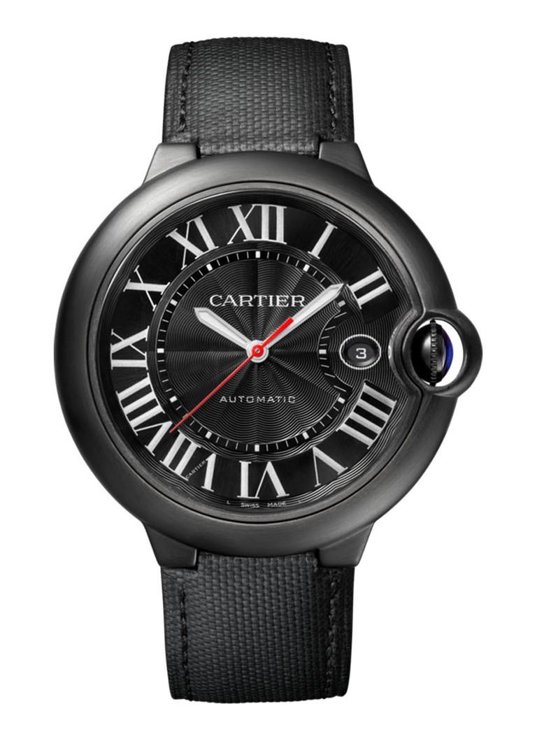 Cartier Ballon Blue de Cartier Carbon 42 mm horloge van staal en kalfsleer Cal