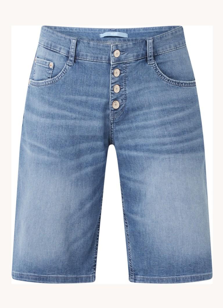 MAC Shorty mid waist slim fit korte spijkerbroek met stretch online kopen