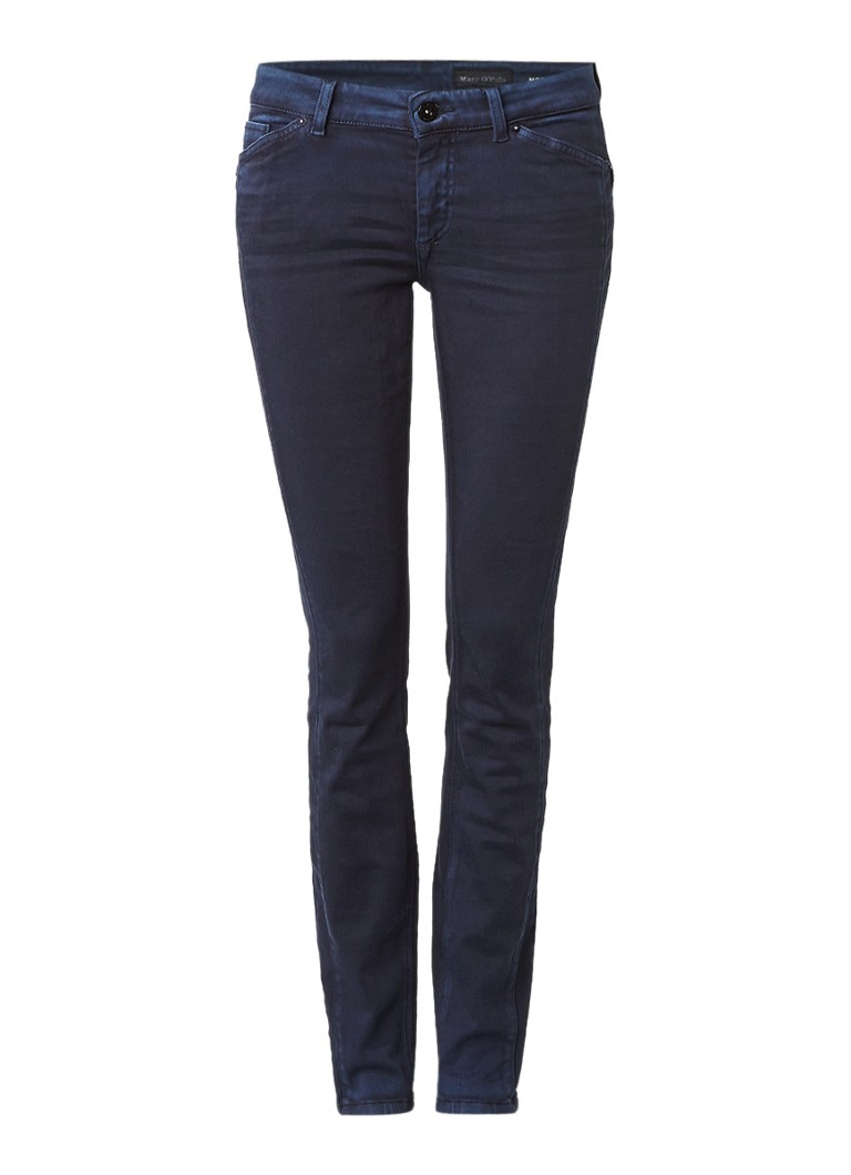 Marc O'Polo Alby mid rise skinny jeans met faded look