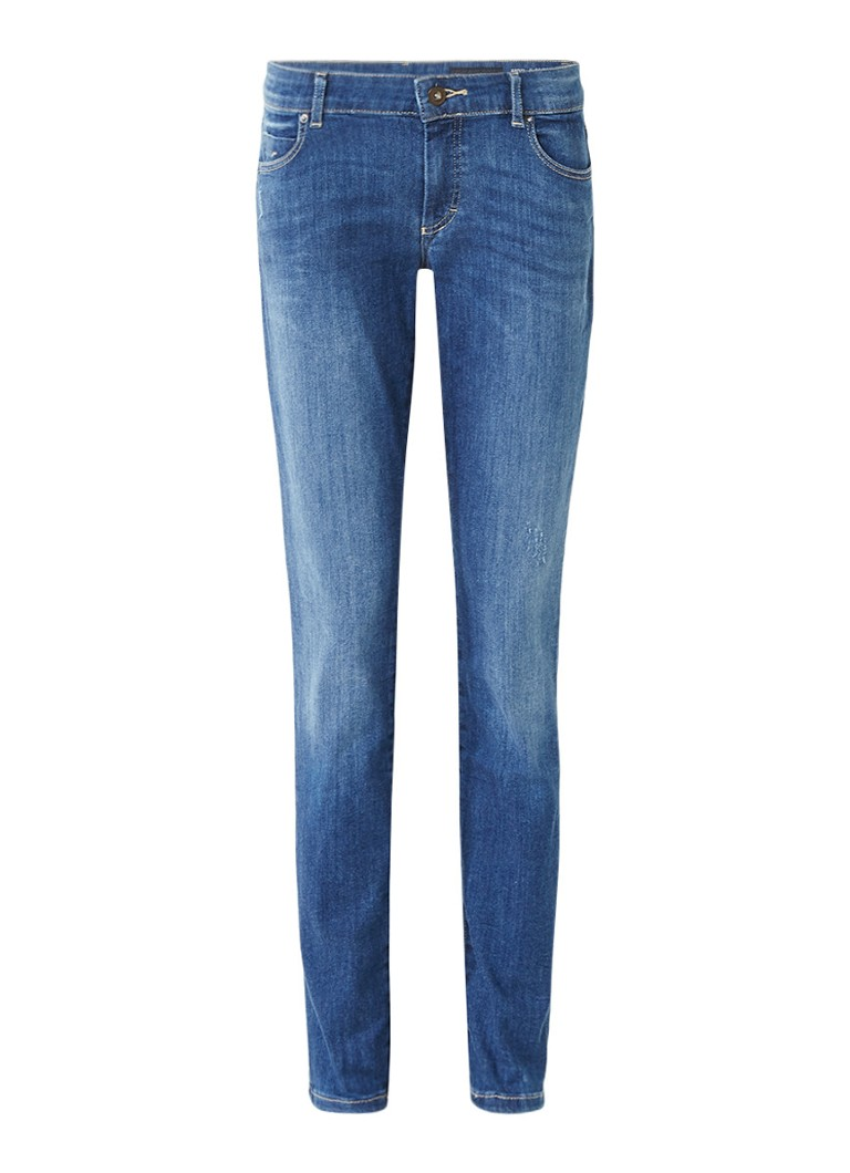 Marc O'Polo Alby mid rise slim fit jeans met medium wassing