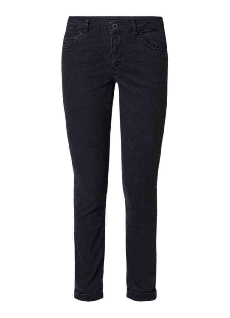 Marc O'Polo Alby mid rise cropped slim fit jeans met omslag