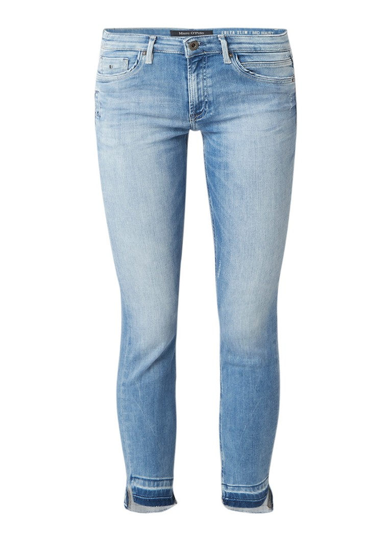 Marc O'Polo Luleamid rise slim fit jeans met destroyed details