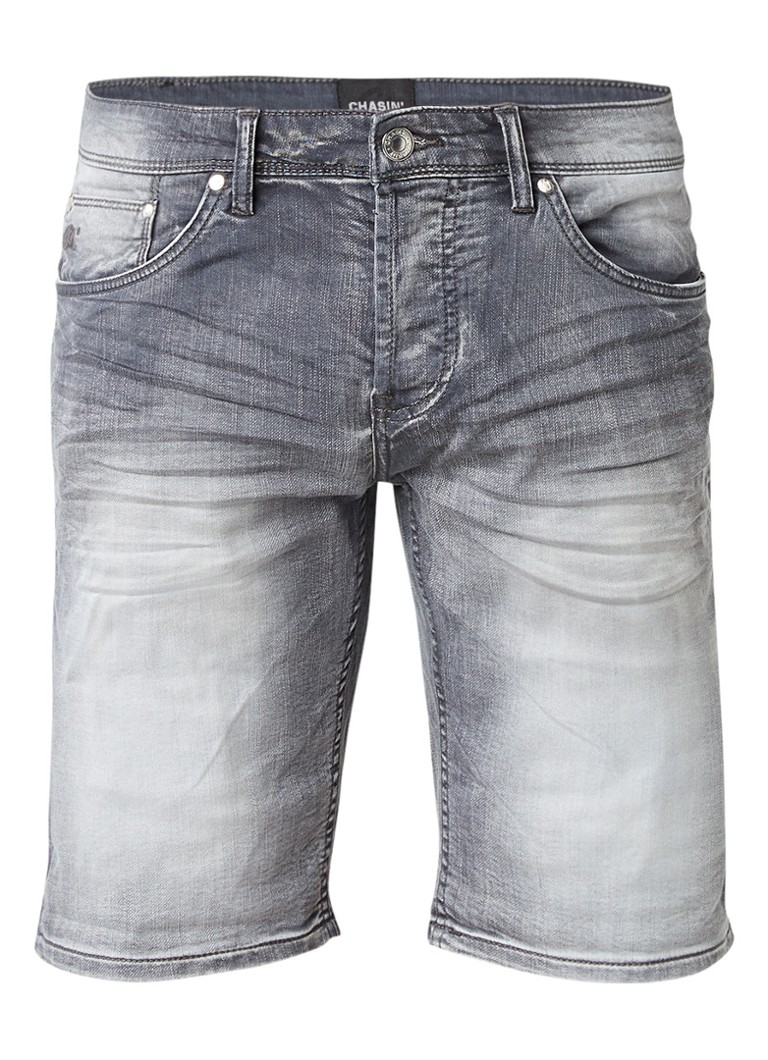 Chasin Iggy S Weel shorts van denim met faded look