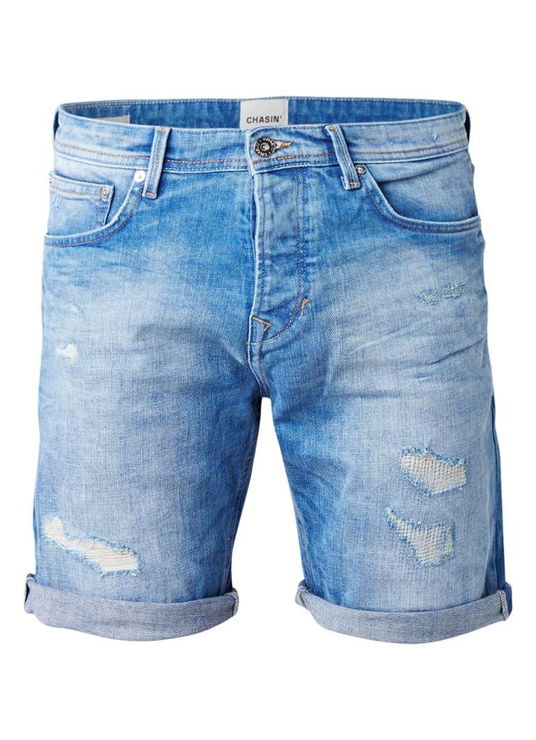 Chasin EGO S Paton Des M3 shorts van denim in gedragen look