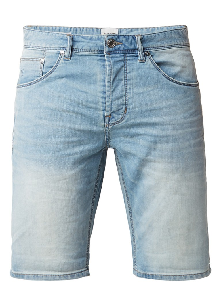 Chasin Iggy S Sky slim fit shorts van denim in lichte wassing
