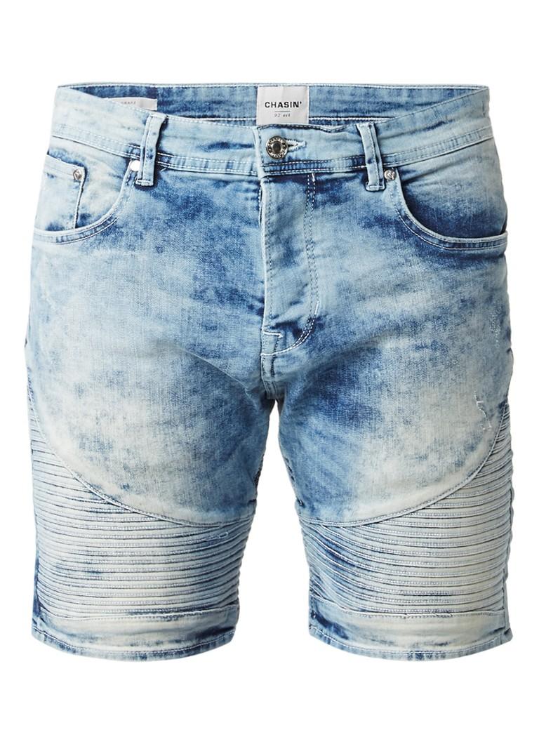 Chasin Drake S Energy shorts van denim met biker details
