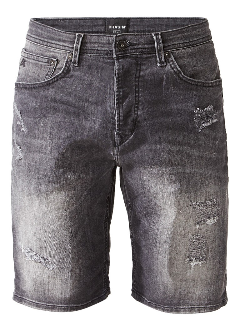 Chasin EGO S Motos Des S3 shorts van denim met ripped details