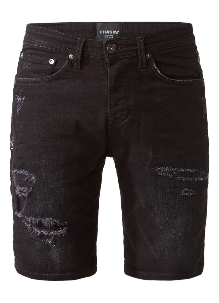 Chasin EGO S Motos Des S1 shorts van denim met ripped details