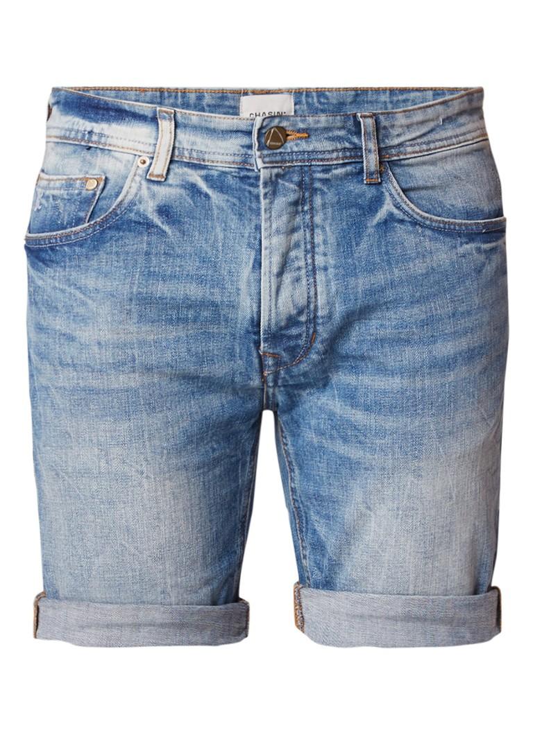 Chasin Liam S regular fit denim shorts met washed look