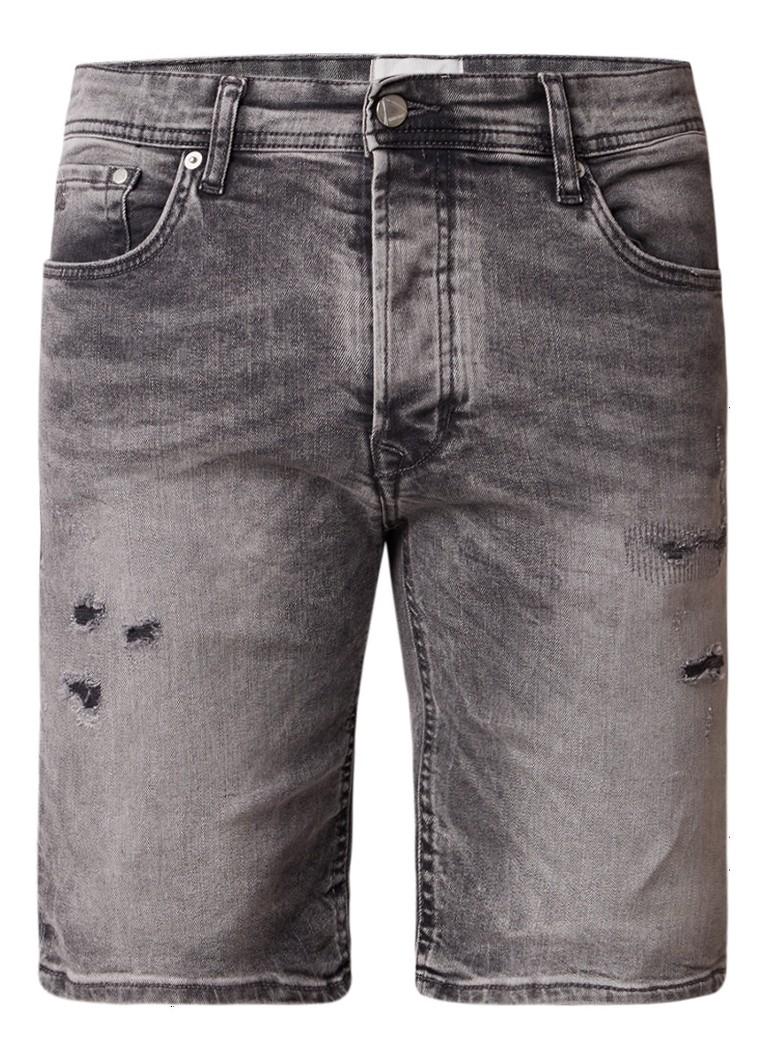 Chasin Liam S regular fit jeans shorts met destroyed details