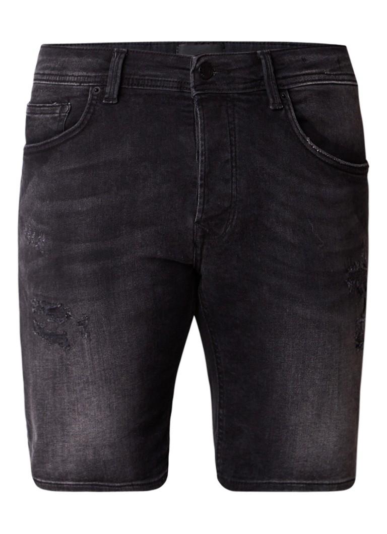 Chasin Ego S regular fit denim shorts met detstroyed details