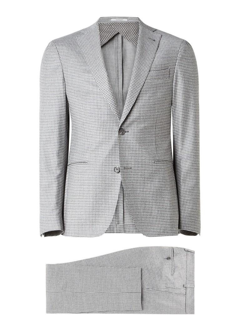 Van Gils Elair tailored fit pak van wol met ruitdessin