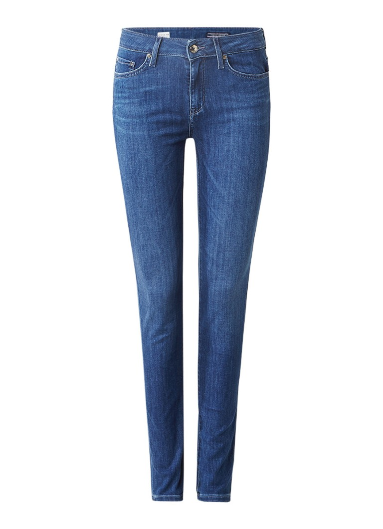 Tommy Hilfiger Venice high rise skinny jeans met faded look