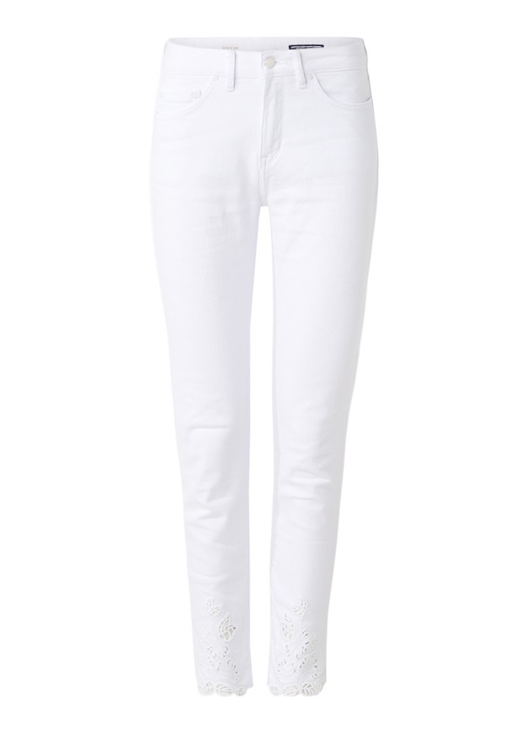 Tommy Hilfiger Venice cropped skinny jeans met broderie