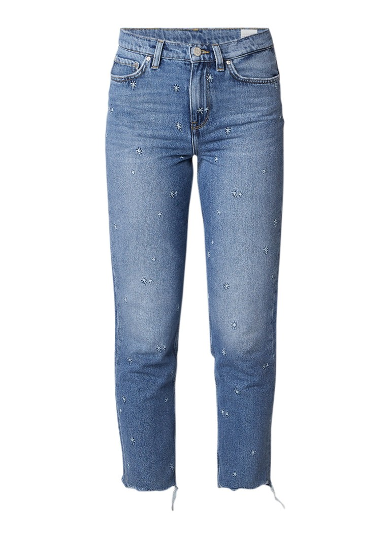 Tommy Hilfiger Gramercy 7 8 loose tapered fit jeans met borduring
