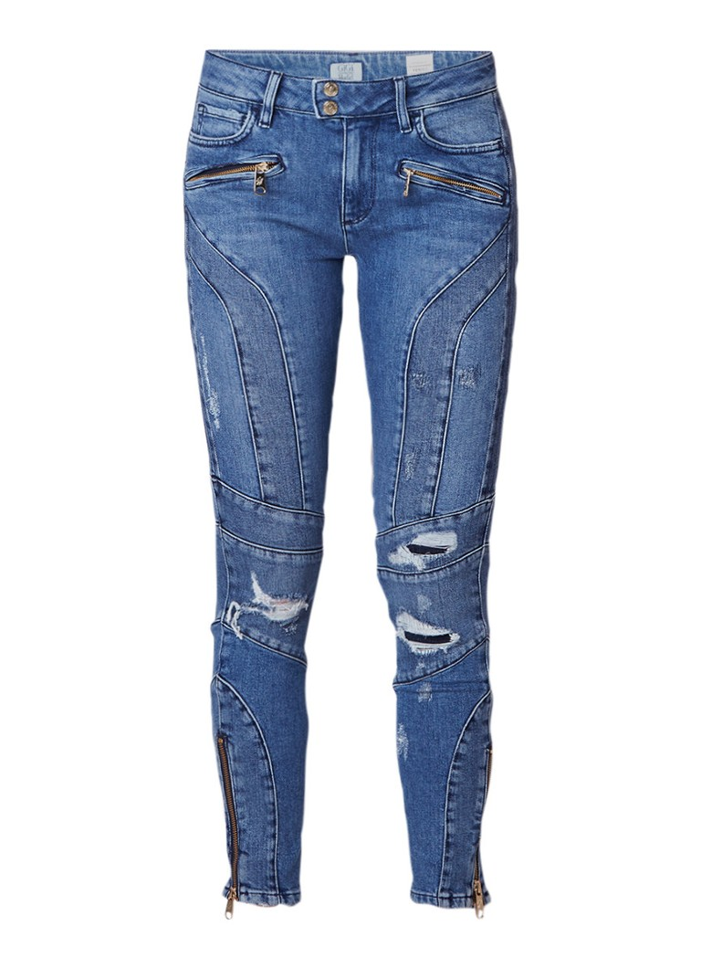 Tommy Hilfiger Gigi Hadid Venice cropped high rise skinny jeans met destroyed