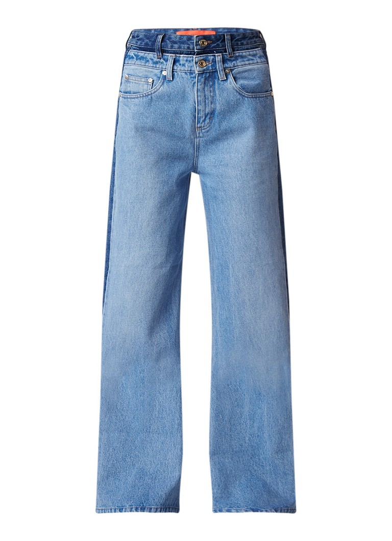 Tommy Hilfiger High rise wide fit jeans in tweekleurig denim