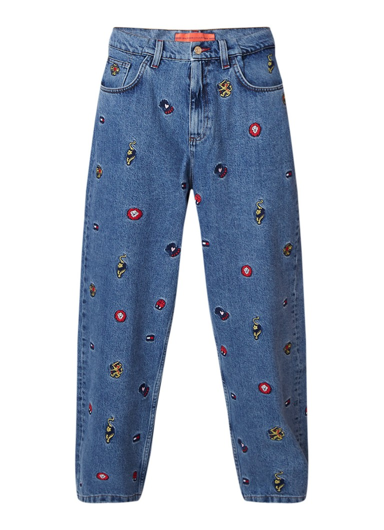 Tommy Hilfiger Relaxed fit high rise jeans met borduring