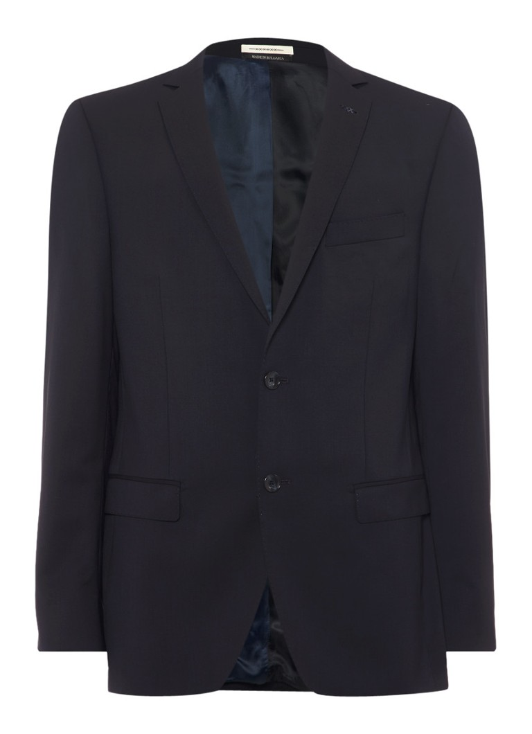 Van Gils Donkerblauw tailored fit colbert Ellis Noos
