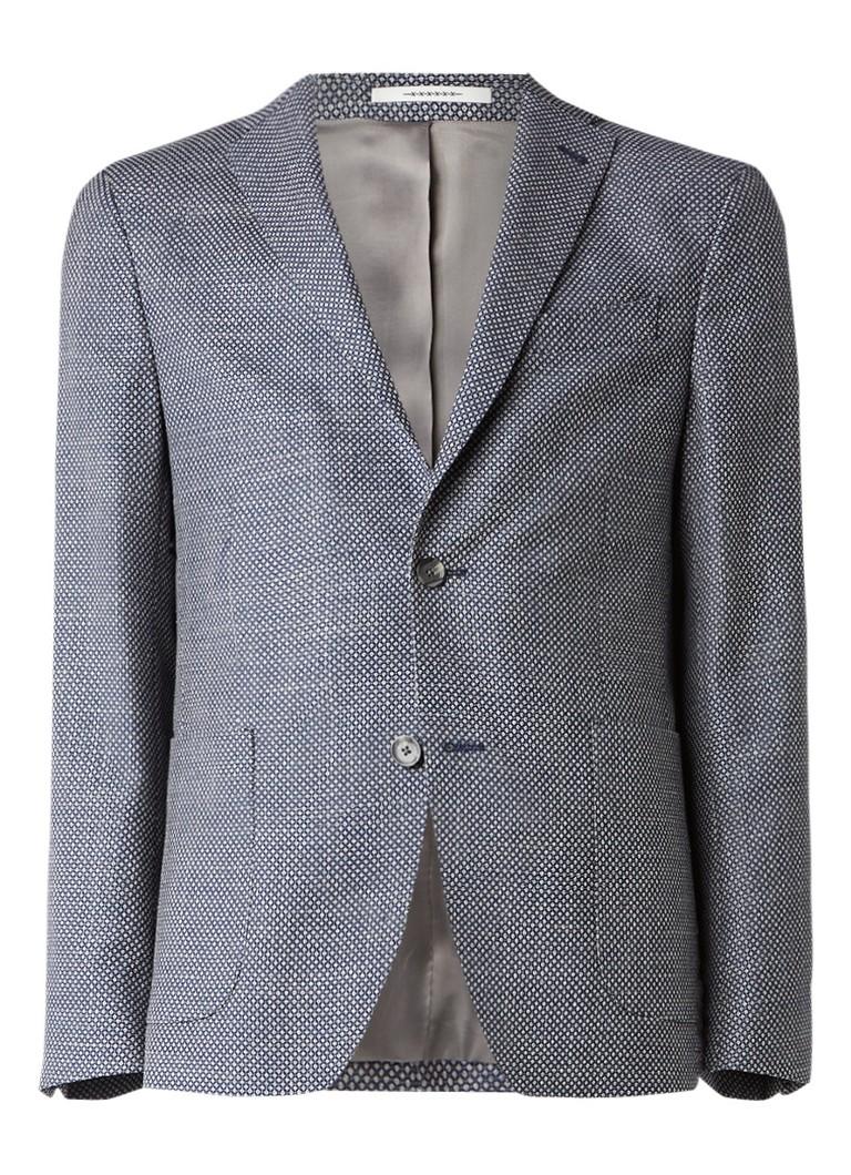 Van Gils Elray tailored fit colbert met gemêleerd dessin