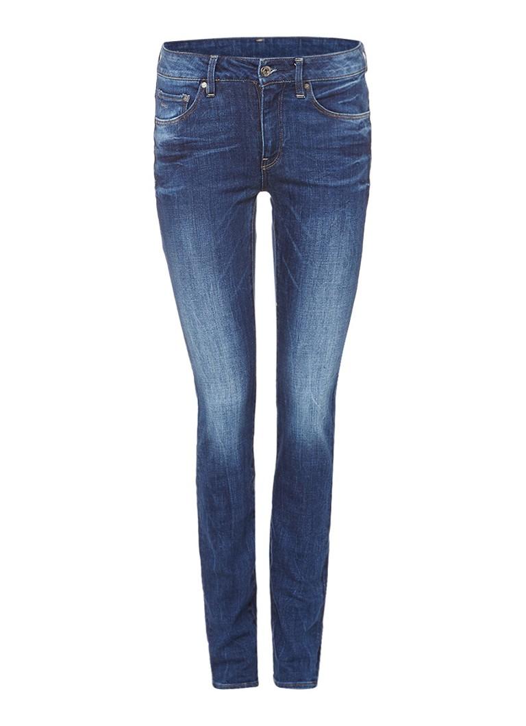 G-Star RAW 3301 high waist skinny jeans met faded finish